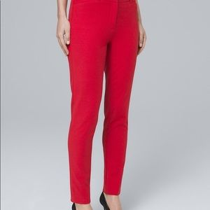 WHBM red slim ankle stretch pants